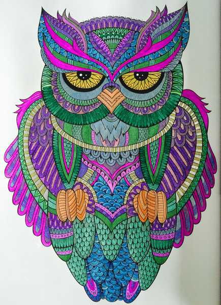 Pictures Colored In Art Therapy Menagerie And More The