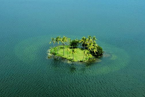 Snake Islet on Lake Danao, Camotes Island, Cebu, Philippines