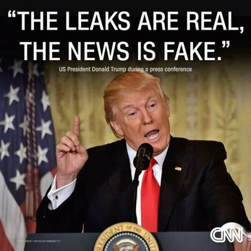 Donald Trump leaks are real news is fake
