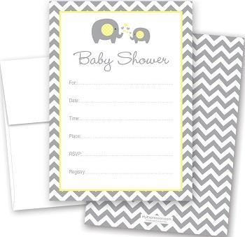 Cnt Yellow Elephant Baby Shower
