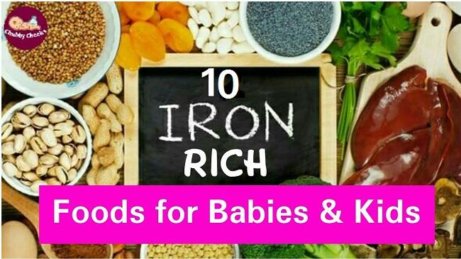 Iron rich foods for toddlers
