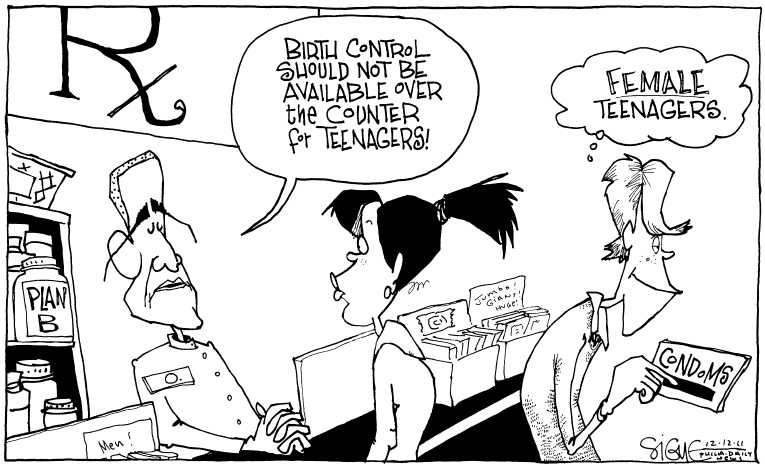 Political Cartoon on 'Plan B Altered' by Signe Wilkinson