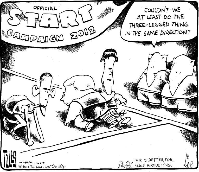 Political Cartoon on 'Republicans Gaining Momentum' by Tom