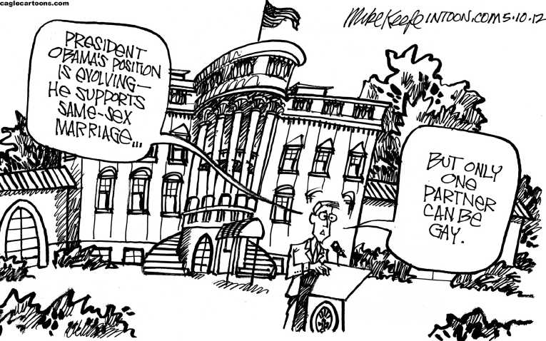Political Cartoon on 'Gay Marriage Issue Erupts' by Mike