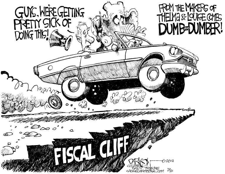 Political Cartoon on 'Deficit Growing' by John Darkow