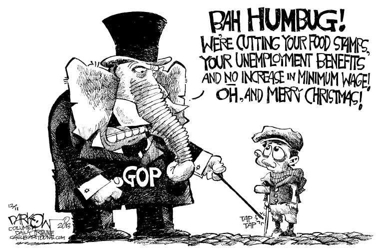 Political Cartoon on 'GOP Promising Tough Love' by John