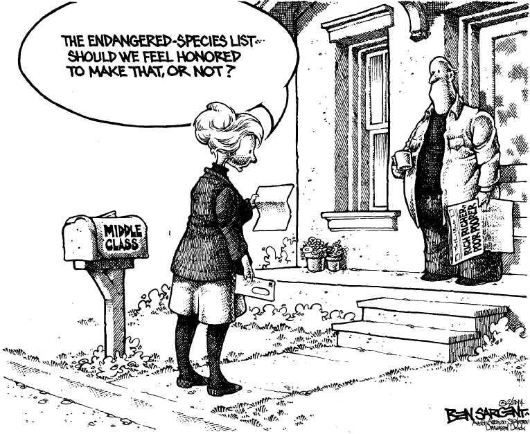 Political Cartoon on 'Food Stamps Slashed' by Ben Sargent