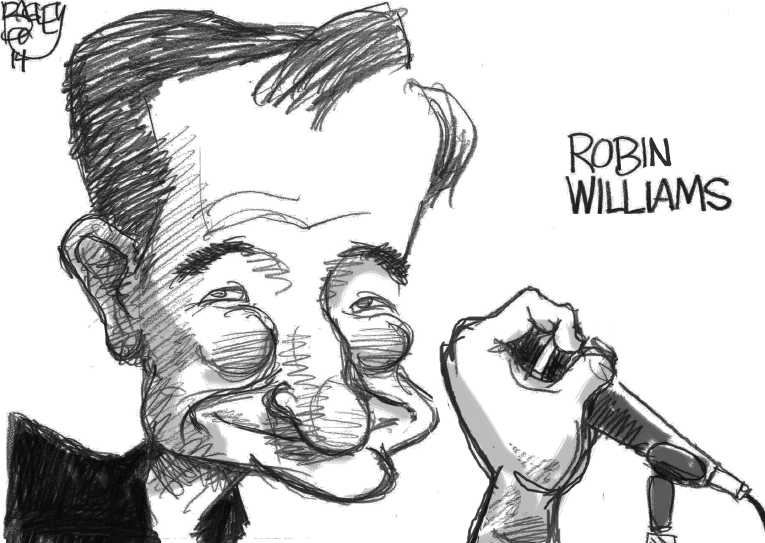 Political Cartoon on 'Robin Williams Dead at 63' by Pat