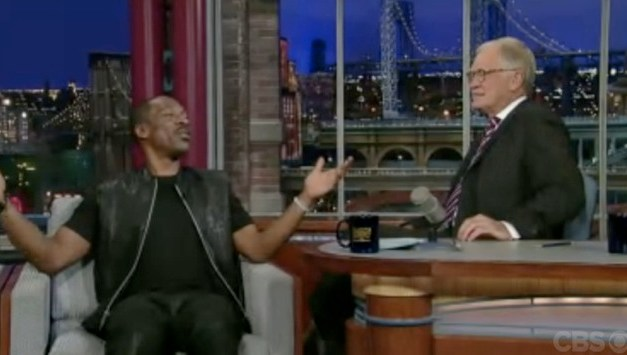 David Letterman gives Eddie Murphy advice on hosting the Academy Awards