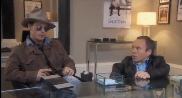 "Johnny Depp confronts Ricky Gervais on ""Life's Too Short"""