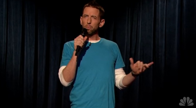 On Fallon, Neal Brennan jokes about the meanness of humanity