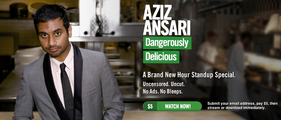 Aziz Ansari jumps aboard self-published stand-up DVD trend