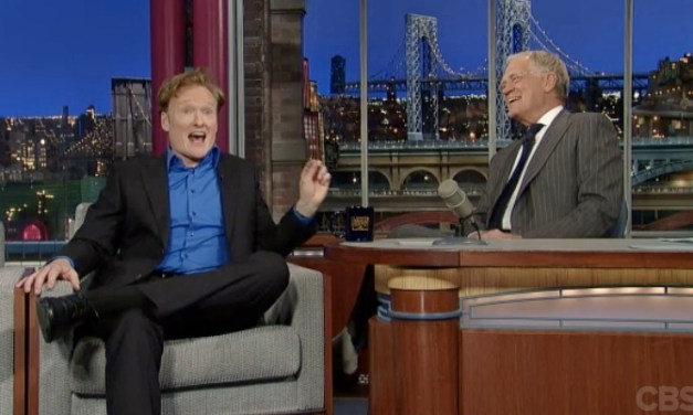 Watch Conan O'Brien sit down for Late Show with David Letterman
