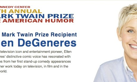 Ellen DeGeneres to receive 2012 Mark Twain Prize for American Humor