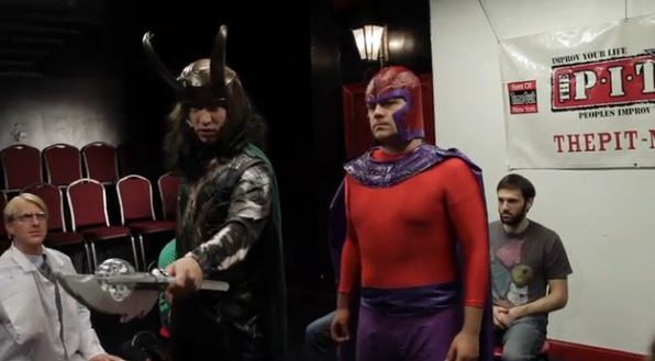 Comic book villains take an improv comedy class