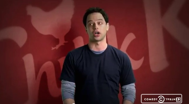 Nick Kroll's Comedy Central ad for Chikk Club; take that Chick-fil-A