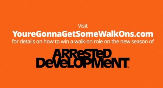"Arrested Development offers ""walk-on"" roles for fans in contest for new Netflix season"