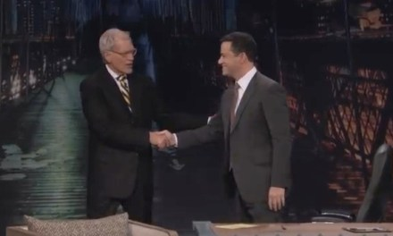 Jimmy Kimmel meets David Letterman, and discusses what he has learned from him