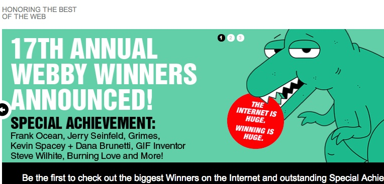 Big names win big in Webby Awards