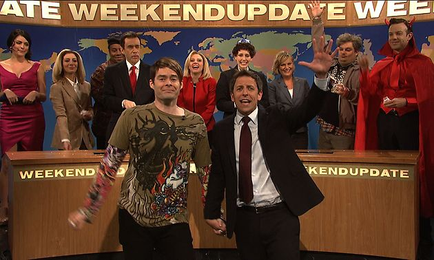 A Farewell to Bill Hader: Seth Meyers, Amy Poehler and SNL's Weekend Update characters send off Stefon