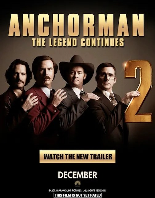"Here is the movie trailer to ""Anchorman"" 2 we've all been waiting for"