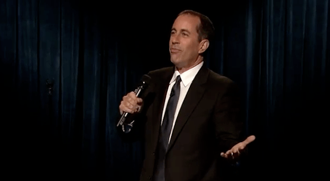 Jerry Seinfeld thinks clowns have a problem; he's cool with Crackle, though