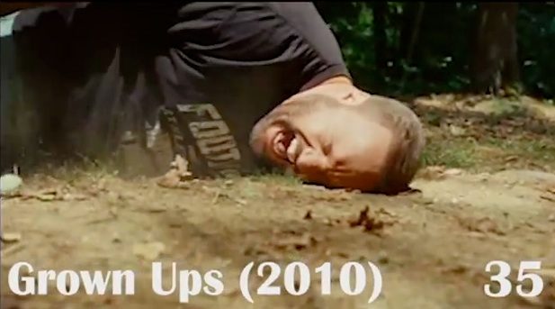 Here's a montage of every time Kevin James has fallen down in a movie (before Grown Ups 2)