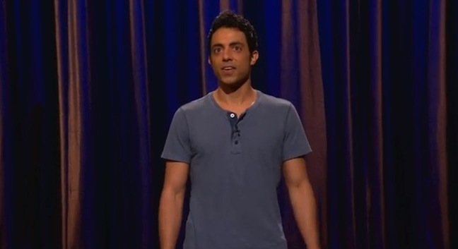 Sammy Obeid performs on Conan as he nears end of journey to perform stand-up 1,001 nights in a row