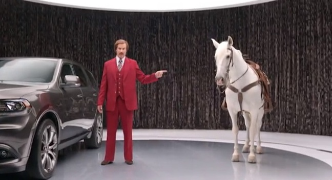 "Will Ferrell as Ron Burgundy for the Dodge Durango, and for ""Anchorman 2"""