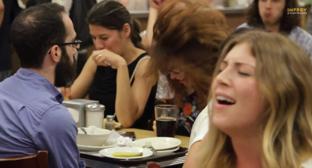 "Improv Everywhere's ""When Harry Met Sally"" scene at Katz's Deli"