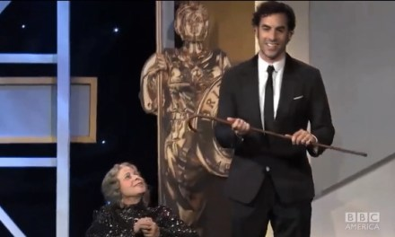 Sacha Baron Cohen kills with 2013 BAFTA Britannia Awards prank