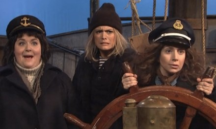 "From SNL's dress rehearsal: Lady Gaga in ""Female Sea Captains"""