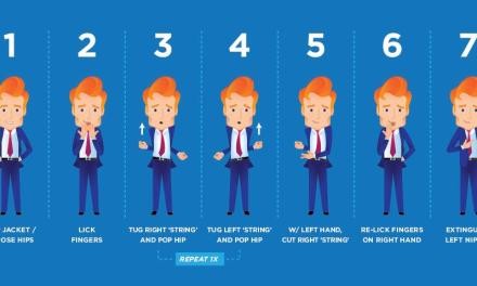 Your How To Infographic for Conan O'Brien's String Dance