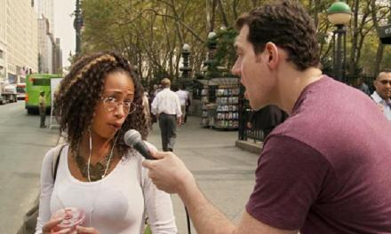 """Billy Eichner, on turning """"Man on the Street"""" interview into game show as performance art, in FUSE's """"Billy on the Street"""""""