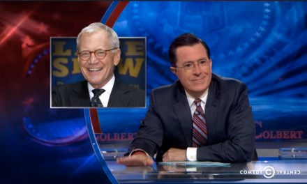 "Craig Ferguson, Jon Stewart, Seth Meyers toast Stephen Colbert, while ""Colbert"" praises David Letterman on CBS late-night transition"