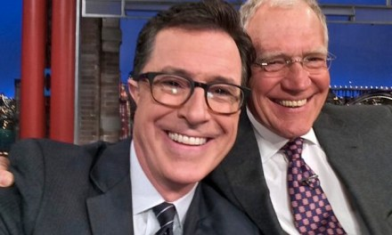 Stephen Colbert tells David Letterman he missed chances at interning and writing for him, before replacing him as Late Show host in 2015