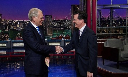 Stephen Colbert replacing David Letterman as host of Late Show on CBS in 2015!