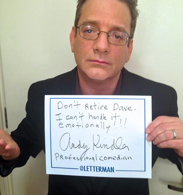 Andy Kindler on Letterman for his annual career health check-up!