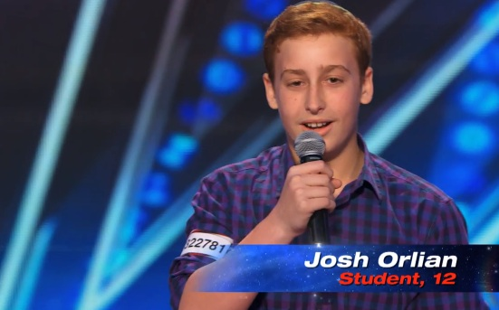 12-year-old Josh Orlian's audition for America's Got Talent