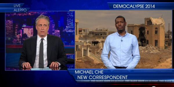 "Michael Che's debut as ""New Correspondent"" on The Daily Show with Jon Stewart"