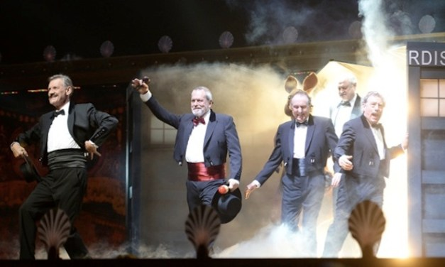 Scenes from the first day and night of the 2014 Monty Python Live reunion