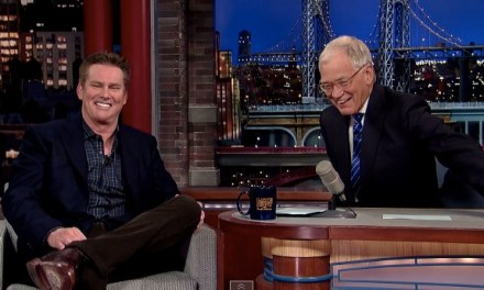 "Brian Regan performs and shows a ""Top Five"" clip on Late Show with David Letterman"