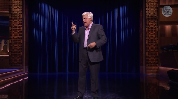 Jay Leno performs stand-up on The Tonight Show Starring Jimmy Fallon