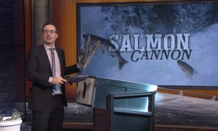 Last Week Tonight with John Oliver proves it belongs with all-star first-season finale salmon cannon salute