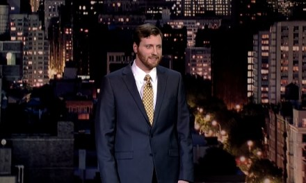 Johnny Beehner's network TV debut on Late Show with David Letterman