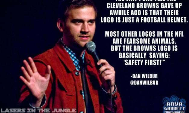 "Cleveland Browns helmet logo ""change"" plays right into comedian's joke"