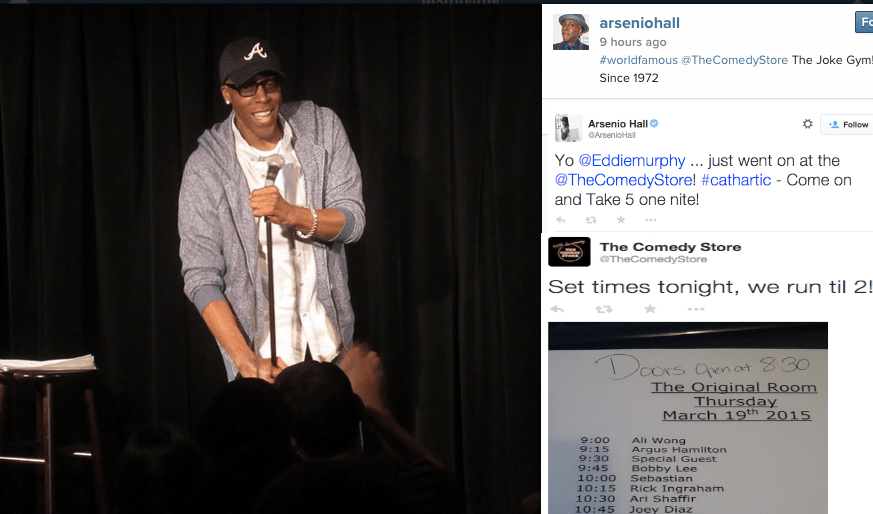 Take Arsenio Hall's word for it? Begging for Eddie Murphy to return to stand-up at The Comedy Store (ahem)