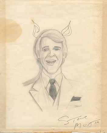 SteveMartin_drawingbyBillDawson_1979_autographed