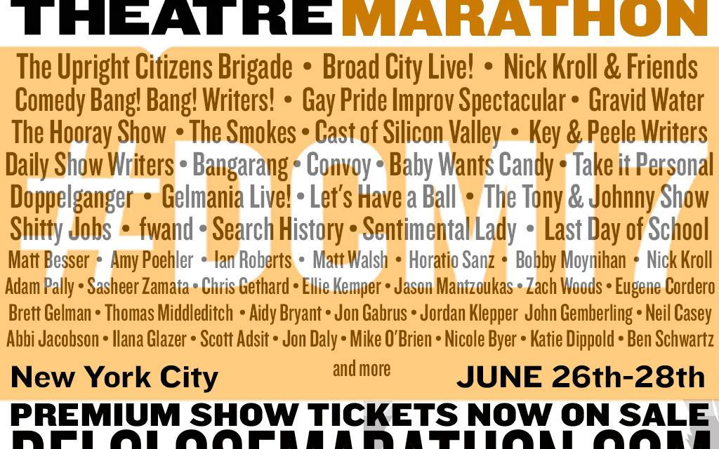 Here's the lineup, schedule for the 17th annual Del Close Marathon #DCM17