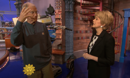 David Letterman takes one last look around the Ed Sullivan Theatre for CBS Sunday Morning